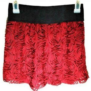 Stooshy Womens Size S Burgundy Lace Lined Skirt
